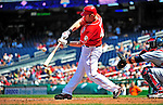 29 August 2010: Washington Nationals first baseman Adam Dunn in action against the St. Louis Cardinals at Nationals Park in Washington, DC. The Nationals defeated the Cards 4-2 to take the final game of their 4-game series. Mandatory Credit: Ed Wolfstein Photo