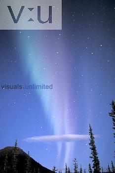 Aurora Borealis or Northern Lights over the Brooks Range, Alaska.