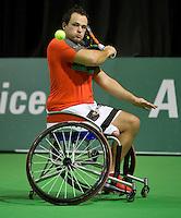 13-02-14, Netherlands,Rotterdam,Ahoy, ABNAMROWTT, Tom Egberink(NED)<br /> Photo:Tennisimages/Henk Koster