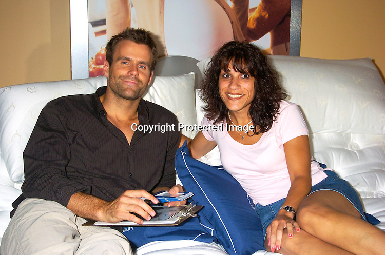 Cameron Mathison and Maria Raffa..at the opening of The Select Comfort Store at 72nd Street and Broadway in New York City on July 28, 2004                  Photo by Robin Platzer, Twin Images