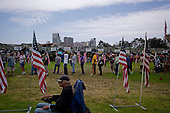"San Diego, California<br /> July 13, 2012<br /> <br /> ""Stand Down"" held by Veterans Village San Diego. It is a three day event attended by 1,000+ homeless vets annually. <br /> <br /> Veterans line up to take their lunch as one of three meals served for free each day.<br /> <br /> It provides them with shower facilities, hair cuts, and clothing. Also with direct access to the Veterans Affairs they have possibilities for housing and medical attention as well as help for substance abuse."
