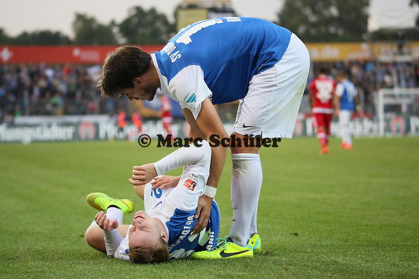 Fabian Holland (SV 98) angeschlagen - SV Darmstadt 98 vs. FSV Frankfurt, Stadion am Boellenfalltor
