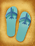 Illustration of beach slippers
