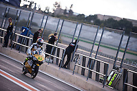 Philipp Oettl in pit line at pre season winter test IRTA Moto3 & Moto2 at Ricardo Tormo circuit in Valencia (Spain), 11-12-13 February 2014