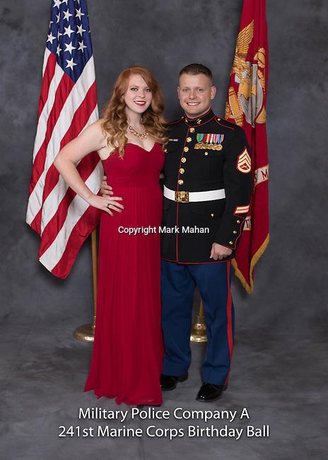 Walter Milam at the Military Police Company A 241 Marine Corps Birthday Ball, Saturday Nov. 19, 2016  in Lexington, Ky. Photo by Mark Mahan