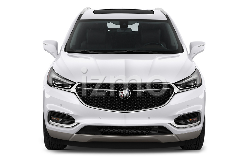 Car photography straight front view of a 2019 Buick Enclave Avenir 5 Door SUV