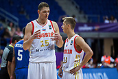 7th September 2017, Fenerbahce Arena, Istanbul, Turkey; FIBA Eurobasket Group D; Russia versus Great Britain; Center Timofey Mozgov #15 of Russia and Point Guard Dmitry Khvostov #13 of Russia talks during the match