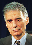 Green Party presidential candidate Ralph Nader appears at a press conference hosted by the Teamsters Union in Washington, DC on 22 June, 2000.<br /> Credit: Ron Sachs / CNP