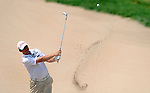 OMAHA, NE - AUGUST 24: Ryan Nelson hits out of a bunker on the 17th hole during the third round of the Cox Classic Presented by Lexus of Omaha at Champions Run on August 24, 2013 in Omaha, Nebraska. (Photo by Steve Dykes/Getty Images) *** Local Caption *** Ryan Nelson