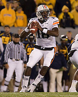 October 23, 2008: Auburn quarterback Kodi Burns. The West Virginia Mountaineers defeated the Auburn Tigers 34-17 on October 23, 2008 at Mountaineer Field, Morgantown, West Virginia.
