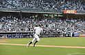 Ichiro Suzuki (Yankees),<br /> AUGUST 21, 2013 - MLB :<br /> Ichiro Suzuki of the New York Yankees runs to first base after hitting his 4000th career hit in the first inning during the Major League Baseball game against the Toronto Blue Jays at Yankee Stadium in The Bronx, New York, United States. (Photo by AFLO)