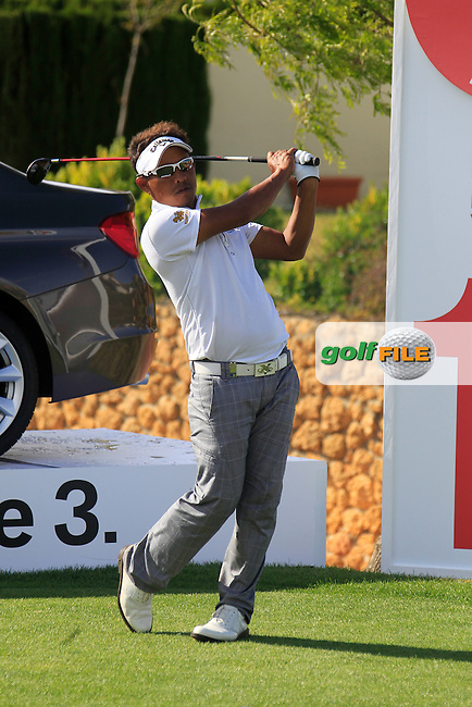 Thongchai Jaidee (THA) waits to tee off on the par3 17th tee during Saturday's rain delayed Round 3 of the Open de Espana at Real Club de Golf de Sevilla, Seville, Spain, 5th May 2012 (Photo Eoin Clarke/www.golffile.ie)