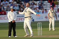 Ollie Rayner in bowling action for Middlesex during Essex CCC vs Middlesex CCC, Specsavers County Championship Division 1 Cricket at The Cloudfm County Ground on 26th June 2017