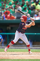 Peoria Chiefs left fielder Craig Aikin (3) at bat during the first game of a doubleheader against the South Bend Cubs on July 25, 2016 at Four Winds Field in South Bend, Indiana.  South Bend defeated Peoria 9-8.  (Mike Janes/Four Seam Images)