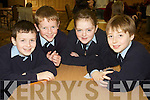 Pictured at the Tralee Credit Union Schools Quiz Brandon hotel on Sunday were students from Ardfert National School Padraig O'Mahony, Eoghan McElligott, Abigail Mahony and John Crowley.