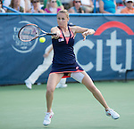 Magdalena Rybarikova (SVK) defeats Andrea Petkovic (GER) 6-4, 7-6(2) in the finals at the CitiOpen in Washington, D.C., Washington, D.C.  District of Columbia on August 4, 2013.