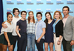 Phoebe Koyabe, Marrick Smith, Ben Levi Ross, Jessica Phillips, Jared Goldsmith, Maggie McKenna, Christiane Noll and Aaron Lazar attend the National Tour Photo Call for 'Dear Evan Hansen' on September 6, 2018 at the New 42nd Street Studios in New York City.