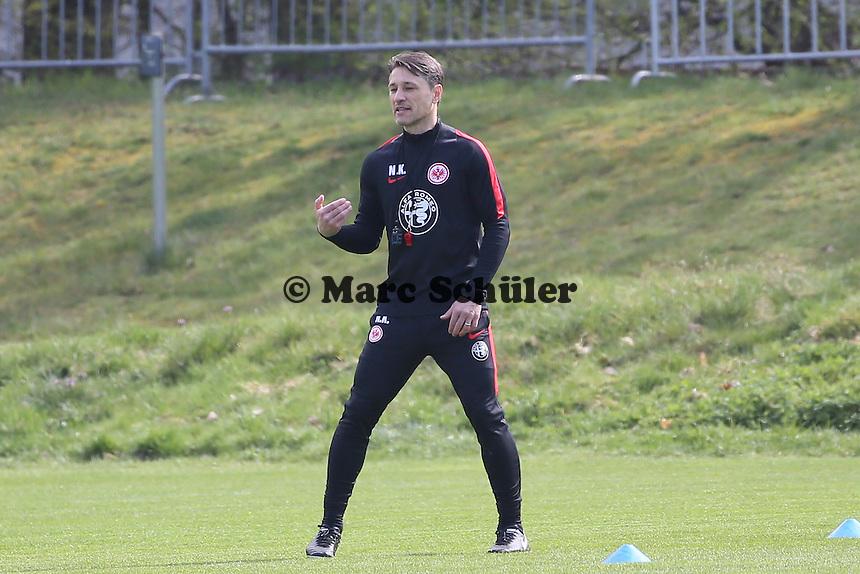 Trainer Niko Kovac - Eintracht Frankfurt Training, Commerzbank Arena