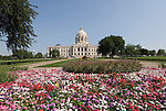 Minnesota, Twin Cities, Minneapolis-Saint Paul: The State Capitol Building in St. Paul, a large dome made of white marble..Photo mnqual305-75036..Photo copyright Lee Foster, www.fostertravel.com, 510-549-2202, lee@fostertravel.com.