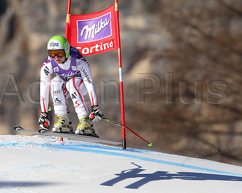 13.01.2012 Cortina D Ampezzo, Italy. The Ski Alpine FIS World Cup Downhill Training for women Picture shows Anna Fenninger AUT