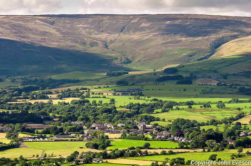 View of Chipping Village in the Forest of Bowland, Lancashire.