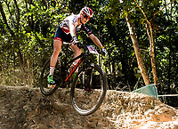 Picture by Alex Broadway/SWpix.com - 05/09/17 - Cycling - UCI 2017 Mountain Bike World Championships - XCO - Cairns, Australia - Annie Last of Great Britain in action during a practice session.