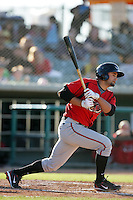 May 2, 2010: Vincent Belnome of the Lake Elsinore Storm during game against the Lancaster JetHawks at Clear Channel Stadium in Lancaster,CA.  Photo by Larry Goren/Four Seam Images