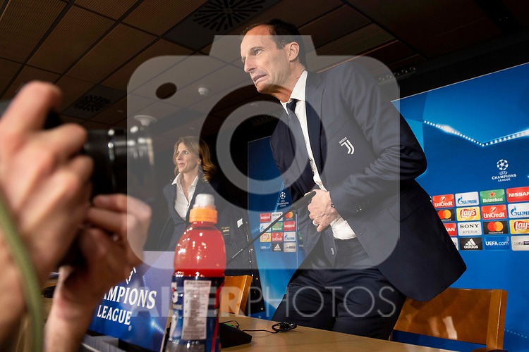 Juventus coach Massimiliano Allegri during press conference the day before Champions League match between Real Madrid and Juventus at Santiago Bernabeu Stadium in Madrid, Spain. April 10, 2018. (ALTERPHOTOS/Borja B.Hojas)