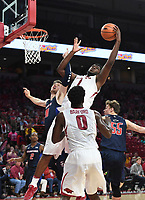 NWA Democrat Gazette/SPENCER TIREY  <br /> Razorback Trey Thompson (1) gets a rebound during the second Friday Nov. 10,2017 at Bud Walton Arena in Fayetteville. Arkansas won the game 95-56.