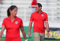 Boyds, MD - Saturday July 02, 2016: Jim Gabarra prior to a regular season National Women's Soccer League (NWSL) match between the Washington Spirit and FC Kansas City at Maureen Hendricks Field, Maryland SoccerPlex.