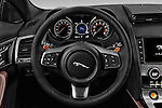 Car pictures of steering wheel view of a 2017 Jaguar F-TYPE S-Convertible 2 Door Convertible Steering Wheel