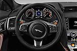 Car pictures of steering wheel view of a 2017 Jaguar F-TYPE S-Convertible 2 Door Convertible Steering Wheel