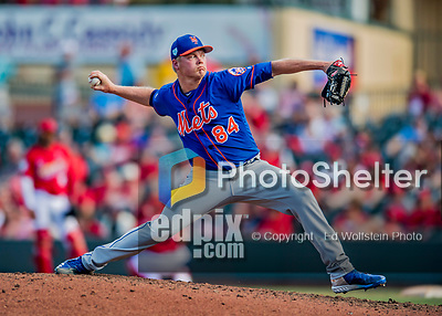 28 February 2019: New York Mets  top prospect pitcher Ryder Ryan on the mound during a Spring Training game against the St. Louis Cardinals at Roger Dean Stadium in Jupiter, Florida. The Mets defeated the Cardinals 3-2 in Grapefruit League play. Mandatory Credit: Ed Wolfstein Photo *** RAW (NEF) Image File Available ***