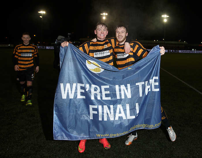 Alloa players celebrate
