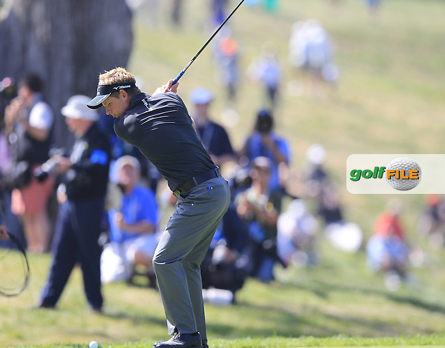 Luke Donald (ENG) tees off the 9th tee during Thursday's Round 1 of the 112th US Open Championship at The Olympic Club, San Francisco,  California, 14th June 2012 (Photo Eoin Clarke/www.golffile.ie)