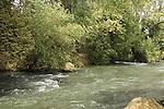 Israel, Upper Galilee, Hazbani stream, a tributary of the Jordan river