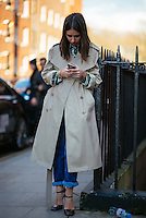 Street Style at Day 2 of London Fashion Week on Feb 21, 2015 (Photo by Hunter Abrams/Guest of a Guest)