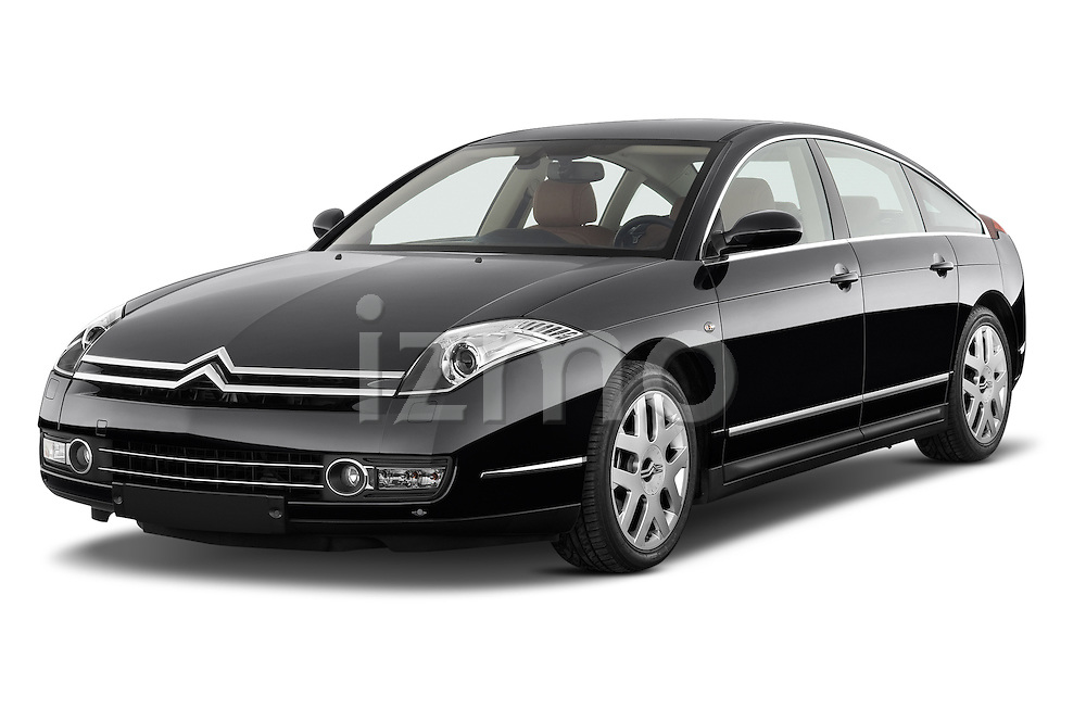 Front three quarter view of a 2005 - 2012 Citroen C6 Exclusive Sedan.