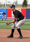 August 24, 2003:  Dustin Yount of the Delmarva Shorebirds, Class-A affiliate of the Baltimore Orioles, during a South Atlantic League game at Classic Park in Eastlake, OH.  Photo by:  Mike Janes/Four Seam Images