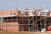 Houses under construction Banbury Oxfordshire UK. .©shoutpictures.com..john@shoutpictures.com