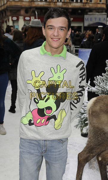 LONDON, ENGLAND - NOVEMBER 17: George Sampson at the &quot;Frozen&quot; VIP film screening, Odeon Leicester Square cinema on November 17, 2013 in London, England, UK.<br /> CAP/CAN<br /> &copy;Can Nguyen/Capital Pictures
