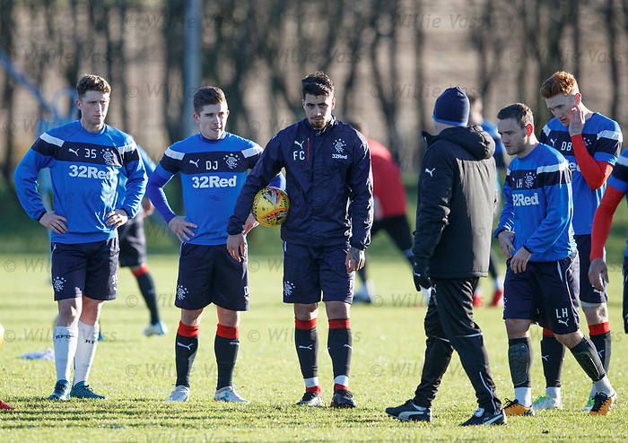 Graeme Murty with the Rangers squad