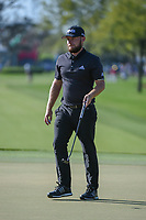 Tyrrell Hatton (ENG) drains his birdie putt on1 during round 3 of the Arnold Palmer Invitational at Bay Hill Golf Club, Bay Hill, Florida. 3/9/2019.<br /> Picture: Golffile | Ken Murray<br /> <br /> <br /> All photo usage must carry mandatory copyright credit (&copy; Golffile | Ken Murray)