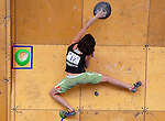 June 5, 2009: France's Melissa Le Neve competes in the IFSC Bouldering World Cup at the Teva Mountain Games, Vail, Colorado.