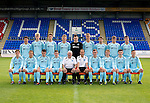 St Johnstone FC U20's Season 2012-13 Photocall.Back row from left, Robbie Norrie, Ross Still, Ally Gilchrist, Gareth Rodger, Craig Reid, Keiran Stewart, Ricky McIntosh, Chris Kane and Andrew Steeves..Front row from left, Chris Tobin, Scott Gray, Anthony Higgins, Craig Thomson, Tommy Campbell Youth Development Manager, Alec Cleland Coach, Chris Moffat, Greg Mitchell, Matthew McArthur and Callum McConnell. .Picture by Graeme Hart..Copyright Perthshire Picture Agency.Tel: 01738 623350  Mobile: 07990 594431