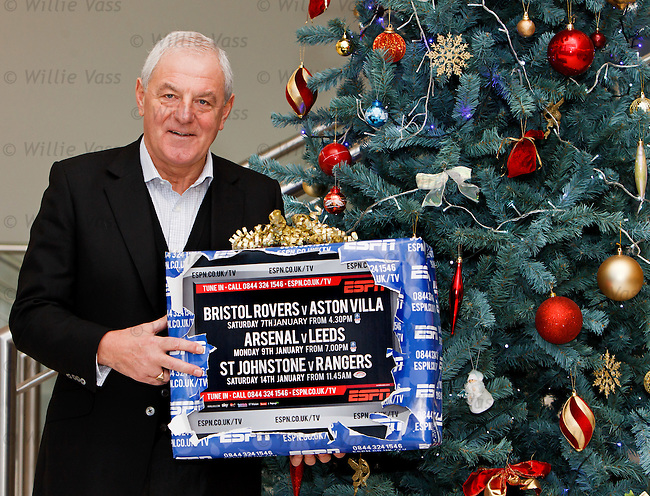 Walter Smith at Hampden to promote ESPN's festive TV offerings