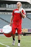 28 May 2010: Michael Bradley. The United States Men's National Team held a practice session at Lincoln Financial Field in Philadelphia, Pennsylvania the day before playing Turkey in their final home friendly prior to the 2010 FIFA World Cup in South Africa.