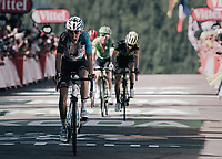 Romain Bardet (FRA/AG2R-La Mondiale) finishing after the very steep  finale up La Planche des Belles Filles<br /> <br /> 104th Tour de France 2017<br /> Stage 5 - Vittel &rsaquo; La Planche des Belles Filles (160km)