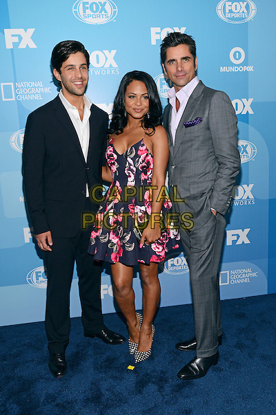 NEW YORK - MAY 11: (L-R) Josh Peck, Christina Milian, and John Stamos arrive at the 2015 FOX Programming Presentation Post Party at the Wollman Rink in Central Park on May 11, 2015 in New York City. <br /> CAP/MPI/PGCS<br /> &copy;PGCS/MPI/Capital Pictures