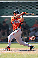 Baltimore Orioles minor league player Joe Oliveira #31 during a spring training game vs the Boston Red Sox at the Buck O'Neil Complex in Sarasota, Florida;  March 22, 2011.  Photo By Mike Janes/Four Seam Images